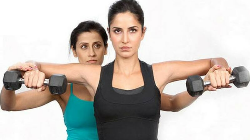 Katrina Kaif and her trainer Yasmin Karachi