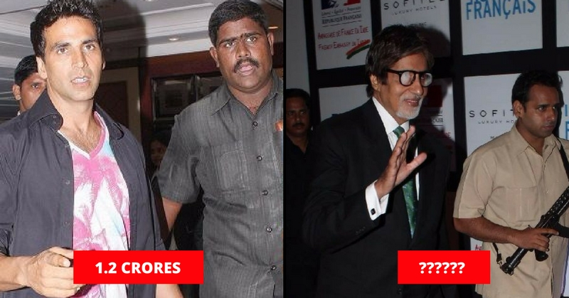 Salary of Bodyguards' Bollywood stars