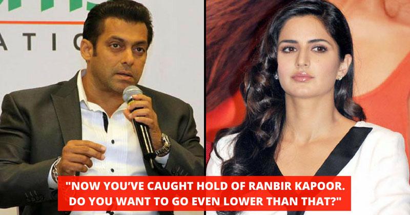 Salman Khan Criticized Katrina Kaif