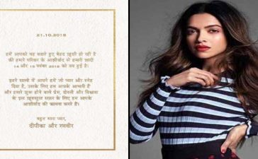 Deepika Padukone Marriage Date