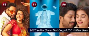 2020 Indian Songs With 100 Million Views