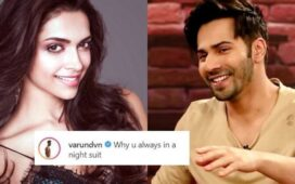 Varun Dhawan Night Suit Deepika Padukone