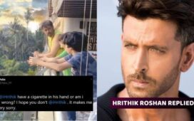 Hrithik Roshan Reply Smoking Cigarette